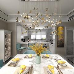 超温馨现代风格客厅+餐厅