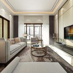浅色调新中式客厅