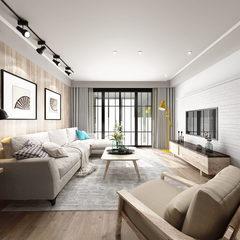 现代客厅全景图