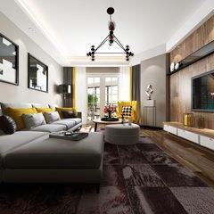 现代简约客厅全景图