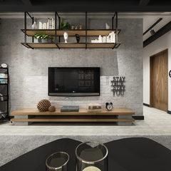 现代客厅休息区全景图