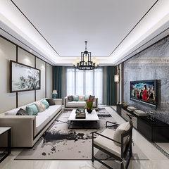 新中式风格客厅720全景
