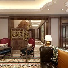 美式豪宅客厅设计720全景