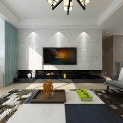 极简的现代风格客厅