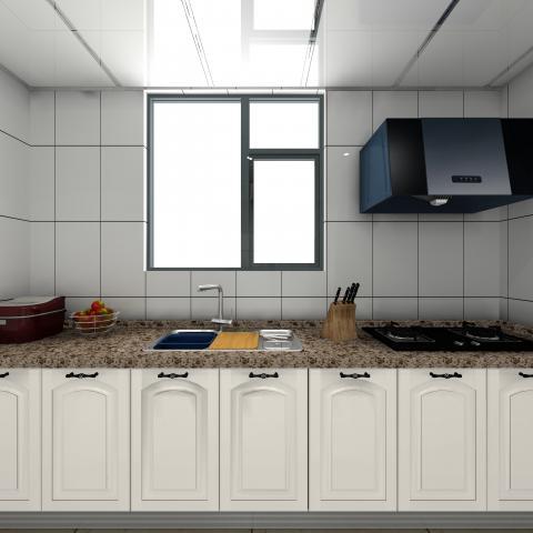 厨房全景图(欧米嘉)为您定制