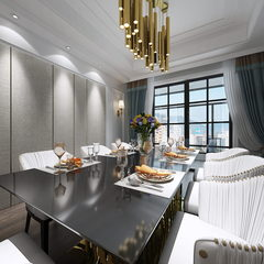 美式风格餐厨空间设计效果图