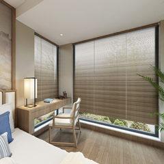 新中式风格卧室效果全景
