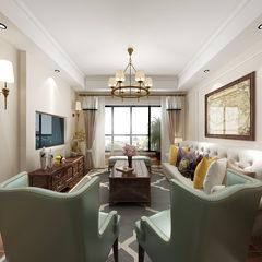 客厅餐厅美式风格效果图