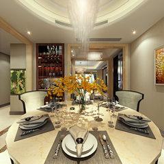 轻奢现代风格餐厅效果图