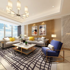 现代简约风格客厅及餐厅