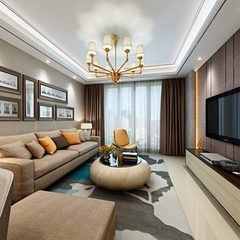 温馨雅致的客厅与餐厅设计