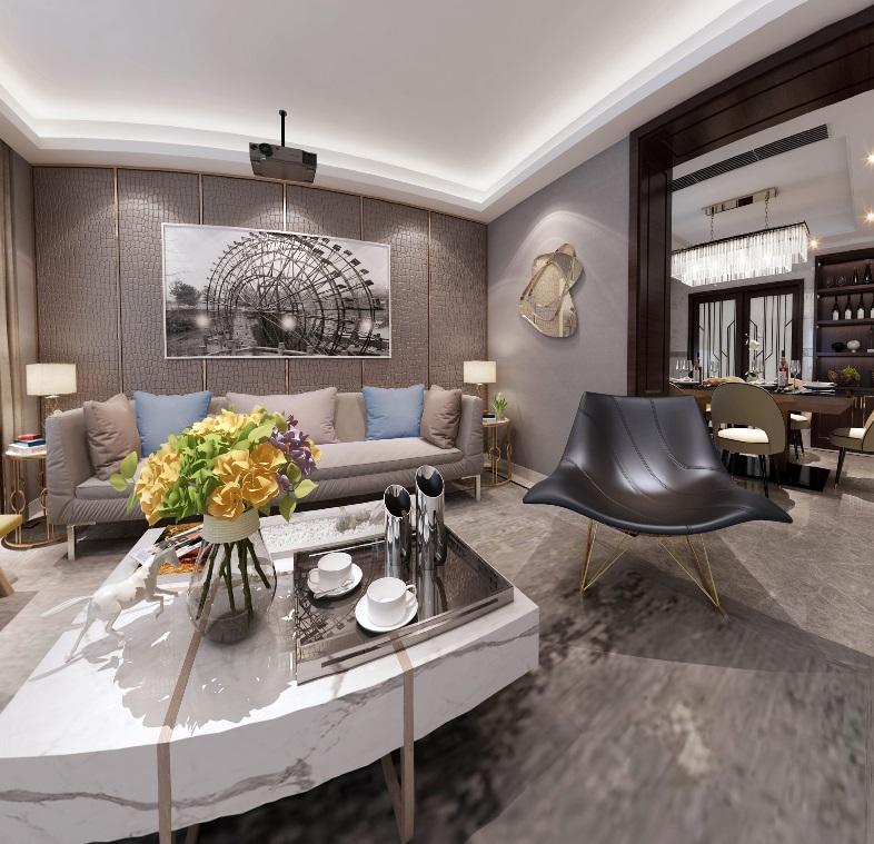 轻奢现代风格客厅