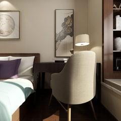 新中式风格卧室全景效果图