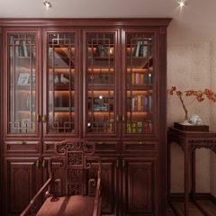 伯爵-中式-书房柱全景