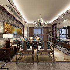 新中式风格客餐厅