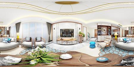 新中式客厅VR